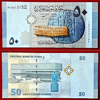 Syria Banknotes 50 Syrian Pounds 2009 UNC out of Bundle