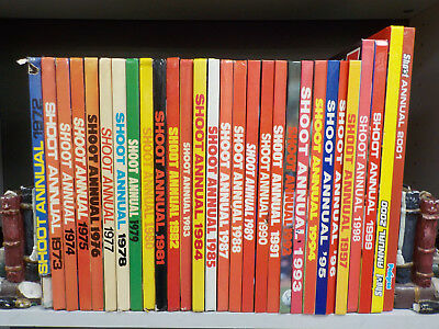 Shoot Annuals (1972-2001) - 29 Books Collection! (ID:3189)