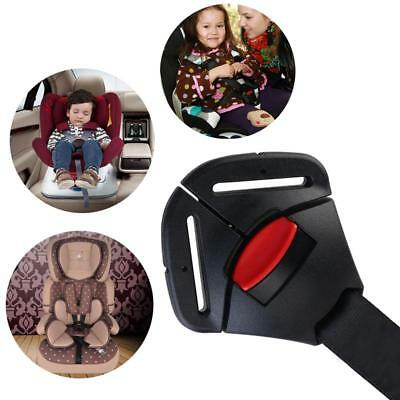1x Black Car Baby Safety Seat Clip Fixed Lock Buckle For Safe Belt Strap Harness
