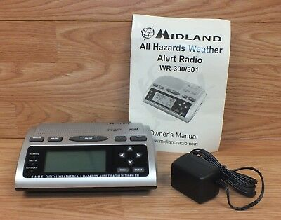 Midland wr-300 (wr300) am/fm all hazards alert weather radio.