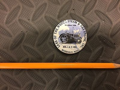Vintage Roosevelt Steam And Gas Engine MINNESOTA Pin 1981 Old School