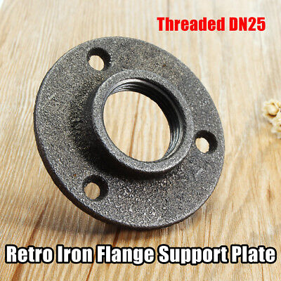 1'' Malleable Iron Pipe Fittings Wall Mount Floor Flange 3 Hole Threaded DN25