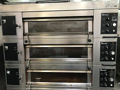 Revent 649 3 Deck Commercial Electric Modular Oven w/ Steam Injection
