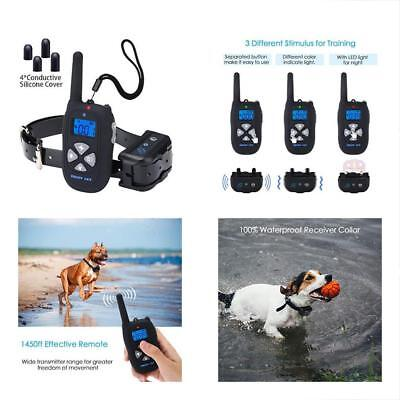 Dog Training Collar Waterproof Rechargeable 1450ft Remote, Electric Shock Bark