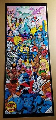X-Men Wolverine Gambit Rogue Psylocke Storm Cable Marvel Comic Poster by Jim Lee