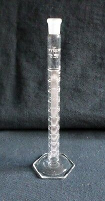Corning Pyrex Glass TC 10mL Graduated Mixing Cylinder, Chipped, 2982-10