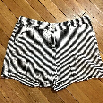 69117346ca OLD NAVY SHORTS Red White Blue Stripe Linen Blend Size Large ...