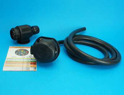 13 Pin Pre-wired Towing Socket with 13 Pin Plug - Caravan & Trailer    #8085