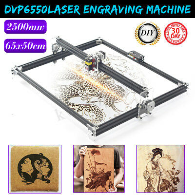 2500MW 65x50cm Laser Engraving Machine Cutting Printer CNC Control LOGO Router