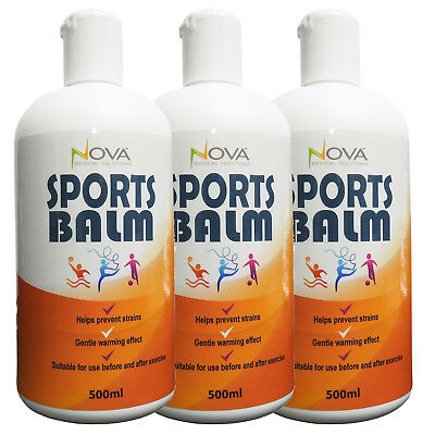 Premium Muscle Relaxation Heating Massage Sports Balm Lotion 500ml - Triple Pack