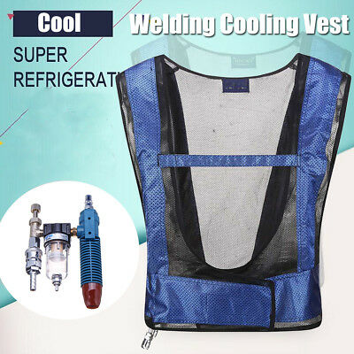 Welding Steel Air Compressed Cooling Vest Waistcoat Vortex Tube Air Conditioner