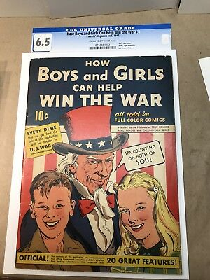 How Boys & Girls Can Help Win the War #1 (1942) 6.5 CRM/OW WWII Classic