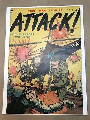 Attack #1 (1952) 7.0 OW Rare Youthful War Comic Atomic Extreme Violence