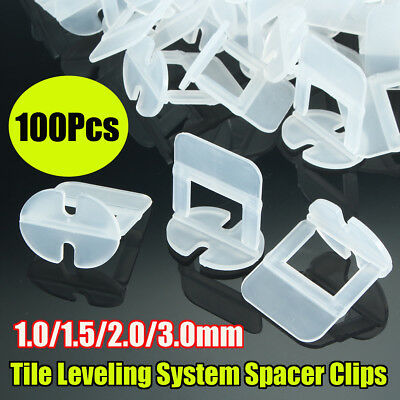 100/400x Tile Leveling System Spacer Clips Wall Tiling Flooring Tool 1/1.5/2/3mm