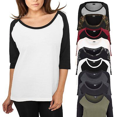 Urban Classics Ladies - 3/4 RAGLAN Longsleeve Top Shirt