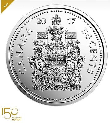 CANADA 2017 50 CENTS COIN UNC (Coat of Arms of Canada)  From mint roll