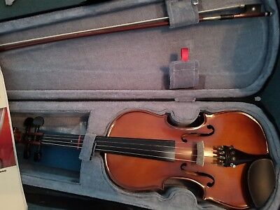 Mendini Full Size 4/4 Mv200 Solid Wood Violin With Tuner Lesson Book and case.