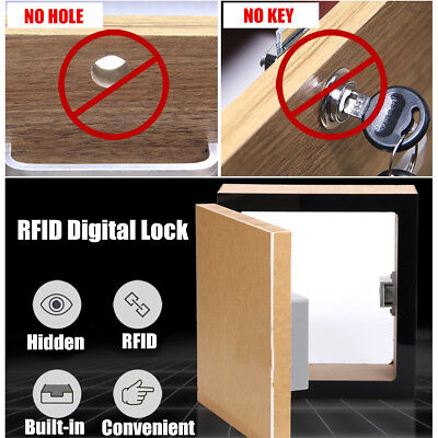 Hidden Digital Lock without Perforate Hole Battery RFID Cabinet Drawer Lock DIY