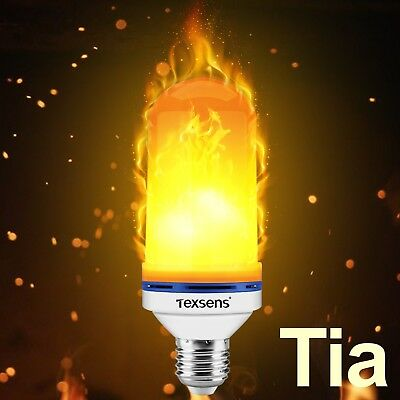 Tia Texsens LED Flame Effect Bulb Dec Only New Discount Gift Under $10