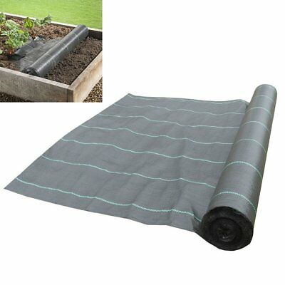 1m Wide 100gsm Weed Control Fabric Ground Cover Membrane Landscape Garden Mulch