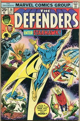 Defenders #28 - G/VG - 1st Appearance Of Starhawk