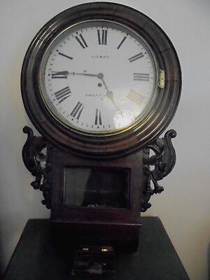 large victorian fusee wall clock