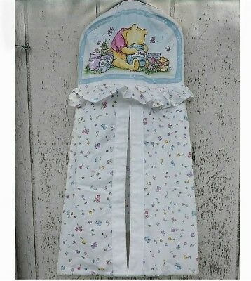Vintage Classic Pooh White Hunny Pots Butterfly Diaper Stacker Holder Baby