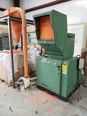 20hp Rapid RAGE Granulator with Blower And Cyclone