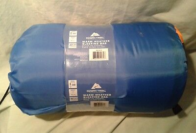 Ozark Trail 50F Warm Weather Rectangular Adult Sleeping Bag Camping Outdoor New