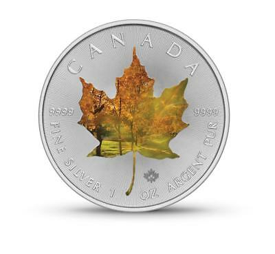 Canada  Dollars Maple Leaf 1Oz.9999.Autumn Colored Edition Silver Coin