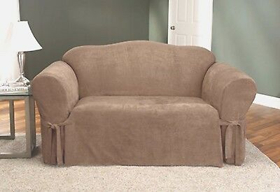 Sure Fit One Piece Soft Suede Sofa Slipcover Color Ivory 18 99