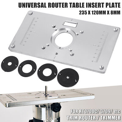 Aluminium Router Table Insert Plate For RT0700C & Universal Trimmer Woodworking