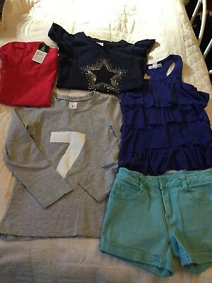 Girls Size 6 Bulk Lot Shorts And Tops