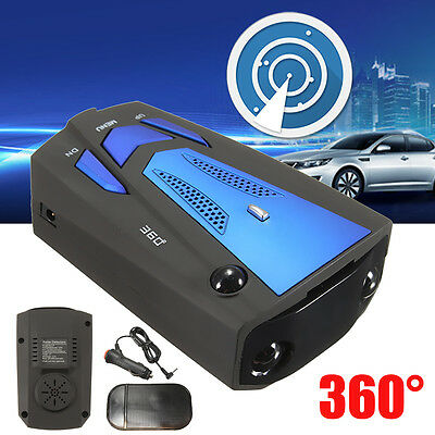 360° Car Trucker Speed V7 GPS Radar Detector 16 Band Camera Voice Alert Warning