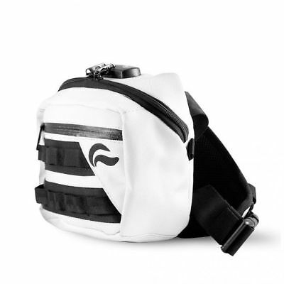 Skunk Kross Smell Proof Odor Proof Bag with Combo Lock - White/Black Details