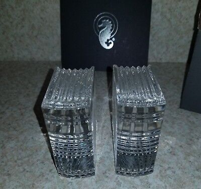 Waterford Crystal Bookends- Made In Austria-1 Pair-New In Box