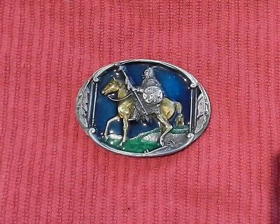 Belt Buckle Indian Chief Joseph on Horse Heavy Made in USA