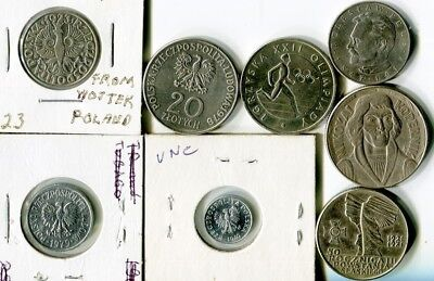 6 Available Beautiful! 1949 Poland 1 Groszy 1 Coin Only High Grade