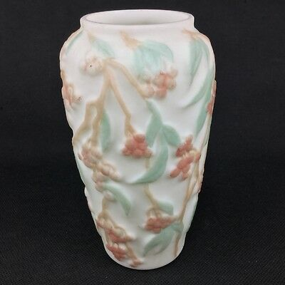 "Phoenix Consolidated Art Glass Bittersweet Coral Green ONE 10"" Vase"