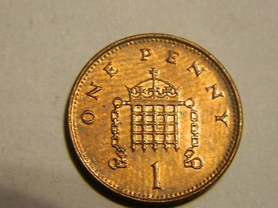1999 Great Britain One Cent Penny-----Lot #2359