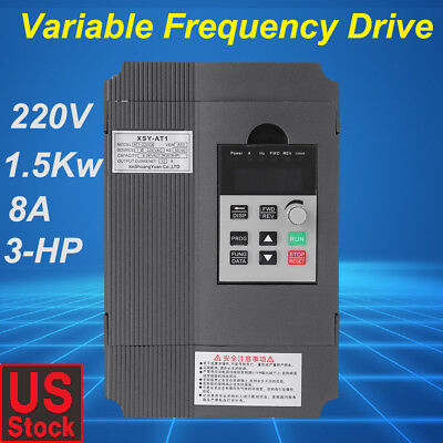 1.5KW 220V 3HP Single Phase To Three Phase Output Frequency Converter VFD VSD