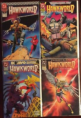 Hawkworld Annual 1 2 & 3 + Issue #32 Flight's End VFNM DC Comics Lot Of 4