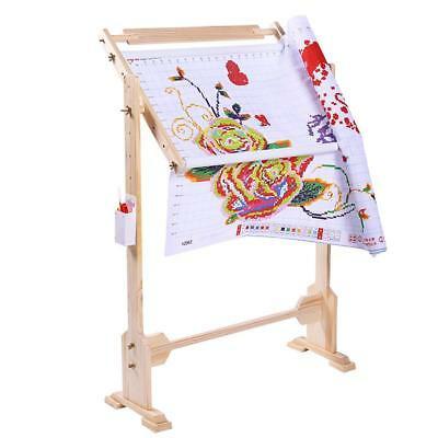 Adjustable Solid Wood Cross Stitch Rack 80cm Embroidery Frame Wooden Stand