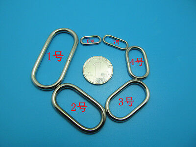 Solid Oval Loop Ring For Leather Craft Bag Straps Webbing Shoes DIY 10-100pcs