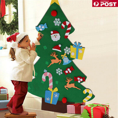 DIY Gift Felt Christmas Tree Set w/ Removable Ornament Xmas Hand Craft Decor Hot