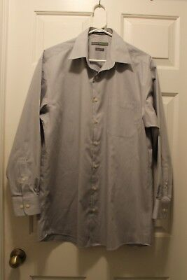 Men S Grey Claiborne By John Bartlett Long Sleeve Shirt Med 15 1 2 32