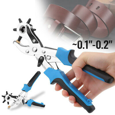 Leather Belt Hole Punch Puncher Tool Hole Maker Revolving Rotary Tools GYTH