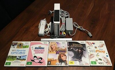 Nintendo Wii Console Bundle 5 Games Very Good Condition PAL - Free Post