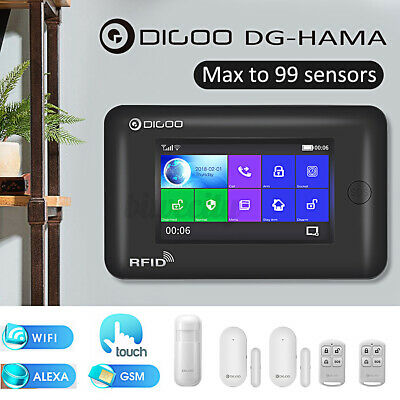 Digoo DG-HAMA Touch Wireless Smart  Burglar Security WIFI Alarm System Kits