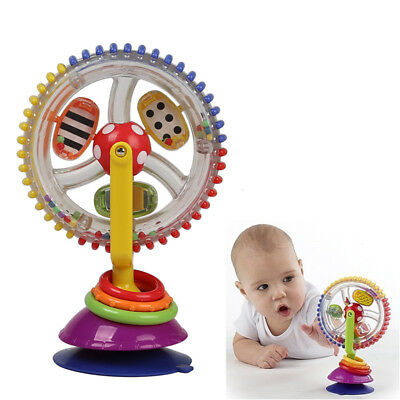 Child Educational Toy Rainbow Ferris Wheel Rattle Clanking Suction High Chair US